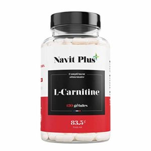 L-Carnitine. Brûleur de Graisse. Complément alimentaire naturel pour la perte de poids. 120 gélules végétales de l l carnitine pure. Navit Plus.