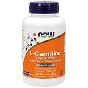 L-carnitine pure powder – 85 g – Now foods