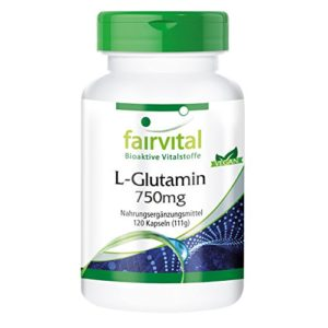 L-Glutamine 750mg – forme libre – biodisponible – 120 gélules – substance pure