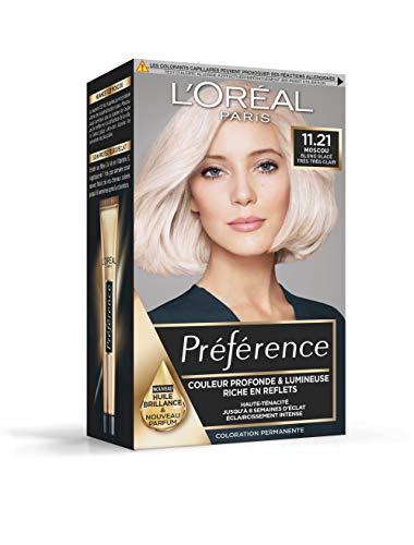 L'Oréal Paris Préférence Coloration Permanente 11.21 Moscou Blond Glacé Très Très Clair