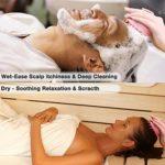 Masseur Tête OMEW 2PCS Brosse Shampooing de Massage Cuir Chevelu Peigne en Silicone Souple, Corps Massage Brosse Peigne pour Nettoyer Soins de la Tête et Retire les Peaux Mortes
