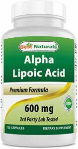 Meilleur Naturals Alpha Liopic Acide 600mg 120capsules–Ala Acide Alpha Lipoïque puissant anti-oxydant