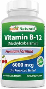 Meilleur Naturals Vitamine B-12comme Méthylcobalamine (DE Méthyle B12), 6000mcg, tablette de 60