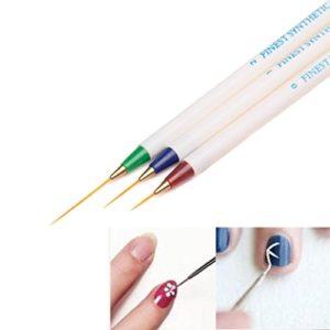 Moonuy 3PCS Nail Art Design Set Dotting Peinture Dessin Pinceau Stylo Outils nail clippers Pen Tools Nail Art DIY Outil Tip Gel Design Peinture Pen Brosse à points Peinture Pen (A)