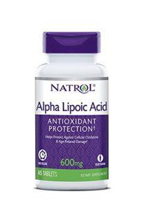 Natrol Complément alimentaire antioxydant à base d'acide alpha-lipoïque – A libération prolongée – 45 comprimés (600 mg)