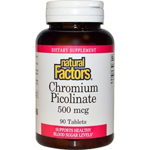 Natural Factors – Chrome Picolinate 500 mcg – 90 Comprimés