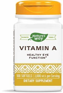 Nature's Way – Vitamine A 10000 IU – 100 Gélules