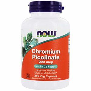 Now Foods Chromium Picolinate 200 mcg – 250 Caps