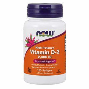 Now Foods, Vitamin D-3, 2000 IU, 120 Softgels