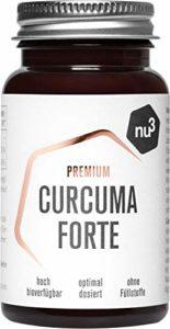 nu3 – Curcuma Forte Premium | 60 capsules | Curcumine NovaSOL® avec une biodisponibilité 185 fois meilleure que celle de la curcumine naturelle | Contient vitamine C et vitamine D | Curcuma vegan