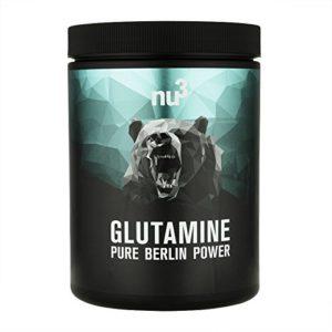 nu3 – L-glutamine en poudre | 500g | acide aminé non essentiel et protéinogène| idéale pour les personnes pratiquant des sports intenses de musculation