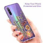 Oihxse Mandala Motif Case Compatible pour UMIDIGI A3 Pro Coque Transparente Silicone TPU Souple Protection Etui Ultra Slim Mehndi Floral Datura Dentelle Housse Bumper (A17)