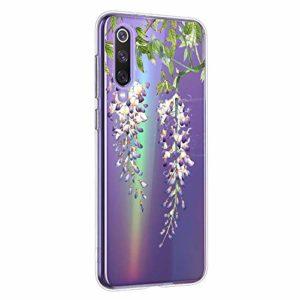 Oihxse Mandala Motif Case Compatible pour Xiaomi Mi 6 Coque Transparente Silicone TPU Souple Protection Etui Ultra Slim Mehndi Floral Datura Dentelle Housse Bumper (A10)