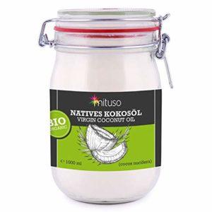 Olio di Cocco Vergine 100% Organico Nativo e non Raffinato Mituso 1L (1 x 1000ml)