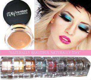 Pack de 9 Stacks Itay Mineral Shimmer pour les yeux Nature Beauty + Primer pour les yeux + Pinceau Cala Deluxe Distributeur Poudre Mineral 77120