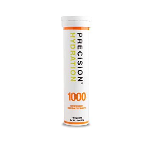 Precision Hydration Lite Electrolyte Drink – Multi Strength Effervescent Electrolyte Tablets (1 Tube, 1000mg/L – Orange Tube)