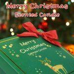 SCENTORINI Coffret Bougies Parfumées de Noël Bougies à la Cire Végétale (Pomme Cannelle, Bois de Cèdre, Pain d'épices, Eau de Vie Sherry)