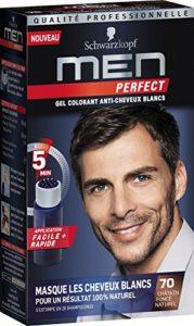 Schwarzkopf – Men Perfect – Gel Colorant Anti-Cheveux Blancs – Châtain Foncé Naturel 70