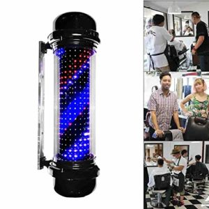 SCLL Barber Stick Coiffure LED Applique Murale Extérieure Coiffure Cylindrique Bouclier Rotatif Jardin Boîte Imperméable 110 / 220V