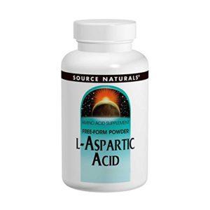 Source Naturals acide L-aspartique 1,9 g de poudre – 3,53 oz (100 grammes)