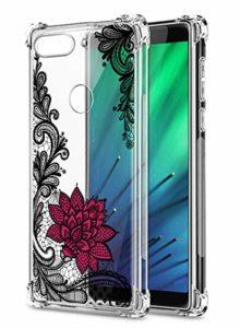 Suhctup Coque Comaptible avec Xiaomi Redmi Y3 Étui Houssee,Transparent Motif Fleur [Antichoc Protection des Coins] Crystal Souple Silicone TPU Bumper Case Cover pour Redmi Y3,A6