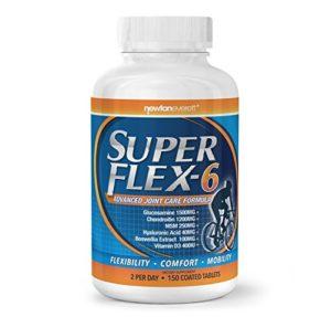SUPERFLEX 6 150Tab.(GLUCOSAMINE+CHONDROÏTINE+MSM+Hyaluronique+Encens +Vitamine D3)