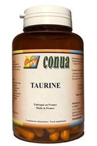 Taurine 120 gélules végétale de 500 mg ( 1000mg / jour ) Acides aminés essentiels Booster d'énergie pour les muscle, le systèmes cardiovasculaire cœur, culturisme, yeux, efforts sportifs, crampes, courbatures, cholestérol, mémoire concentration et la bonne humeur, detox taurine en poudre FABRICATION FRANCAISE – FLACON POUR 2 MOIS