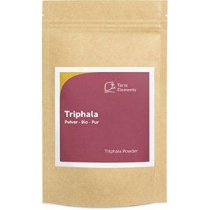 Terra Elements Triphala bio en poudre 100 g I 100% pure I vegan I qualité crue