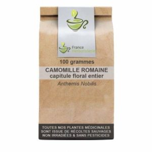 Tisane Camomille Romaine 100 GRS capitule floral ENTIER EXTRA Anthemis no