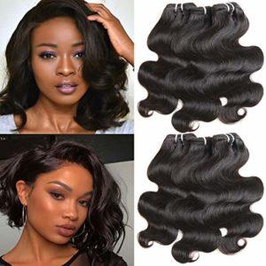 Tissage Bresilien en lot de 6 Bresiliens virgin hair Body Wave 10 pouces(25.4cm) court cheveux boucles cheveux bresiliens vierges de tissages lot de 50g/extensions de cheveux humains