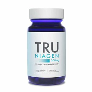 TRU NIAGEN Chlorure de riboside de nicotinamide – Précurseur breveté NAD pour la réduction de la fatigue et de la fatigue, capsules de 300 mg végétariennes, 300 mg par portion, bouteille de 30 jours
