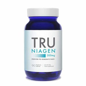TRU NIAGEN Chlorure de riboside de nicotinamide – Précurseur breveté NAD pour la réduction de la fatigue et de la fatigue, capsules de 300 mg végétariennes, 300 mg par portion, bouteille de 90 jours