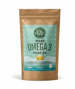Vegan Oméga 3 – Huile d'Algues, 90 Capsules (250mg DHA/Capsule)