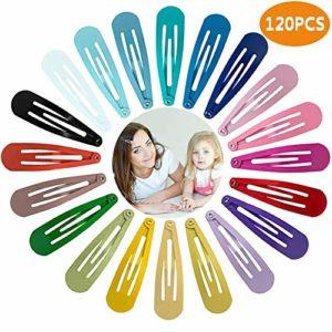 Viccess 120 Pièces Pinces à Cheveux Fille Barrette Fille Cheveux Barrettes à Cheveux en Métal Accessoires de Cheveux pour Fille Enfant Bébé, 20 Couleurs
