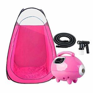 XIAOLY Salon De Bronzage Noir Machine Pop-up Tente Pulvérisateur De Bronzage Machine De Pulvérisation Professionnelle – Faible Bruit (Solution Non Comprise),Pink