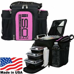 2nd Gen Isobag 3 Meal Pink/Black by Isolator Fitness