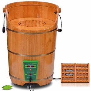 Bain De Pieds Baril Pied en Bois Massage par Fumigation Massage Rehaussement Durable Bain De Pieds Nature Massage Hydro Massage des Pieds Spa Bain Sauna (Taille : 700mm)