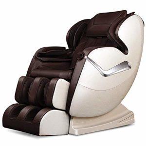 BBX Musique Massage Chaise Plein Corps Shiatsu Multifonction Deluxe Masseur Zero Gravity Capsule avec Chauffage,Brown