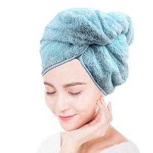 Bllatta Microfibre Cheveux Séchage Serviette Wrap Turbie Turban Tête De Douche Bun Cap Microfibre.( 6 Color)