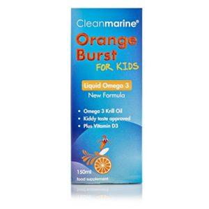 Cleanmarine Krill Oil for Kids Liquid Omega 3 – Orange Burst 150ml