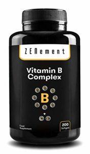 Complexe de vitamines B, 200 capsules   Il contient les huit vitamines B essentielles (B1, B2, B3, B5, B6, B12, la biotine et l'acide folique) ainsi que les vitamines C et E   Améliorer l'énergie, l'humeur et la santé en général   Sans gluten