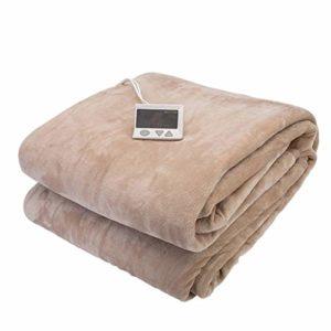 Couvertures chauffantes Pincettes électriques ménagères Chauffage électrique Neuf réglages de température (Color : Brown, Size : 205 * 155cm)