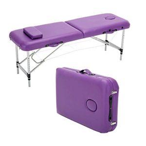 Deluxe Portable Pliante Table De Massage Lit De Canapé Professionnel Poids Léger Plié Cadre En Aluminium Pour Le Traitement De Beauté Reiki Salon