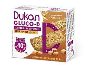 Dukan Barre Gluco-D Saveur Caramel 120 g – Lot de 6