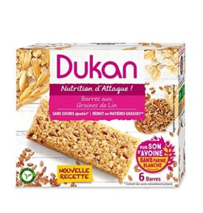 Dukan Barres de Son d'Avoine aux Graines de Lin 150 g – Lot de 6