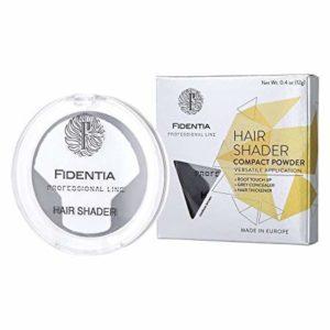 Fidentia Hair Shader poudre capillaire densifiante, correcteur de racine et de cheveux gris 12g, Châtain Foncé – Dark Brown