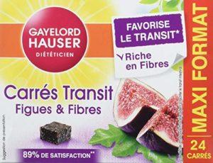 Gayelord Hauser Carres de Transit Figues et Fibres Maxi Format Diététique 24 Carrés