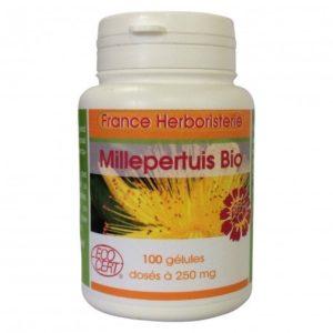 GELULES MILLEPERTUIS plante 100 gélules dosées à 250 mg.