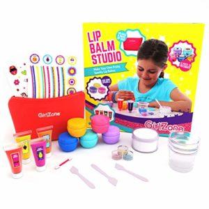 GirlZone Cadeaux Les Filles: Faites Votre Propre Baume à lèvres kit Cet Ensemble de 22pièces Maquillage Filles Cadeau d'anniversaire Cadeau Filles 8Ans 91011+ Ans.