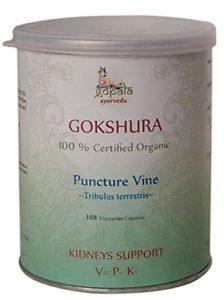 GOKSHURA (Tribulus terrestris) BIO 108 gélules (500mg) – Plante Ayurvédique Traditionnelle pour soutenir les reins